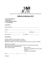 bulletin d adhesion 2015