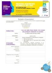 bulletin d inscription rencontres lhss