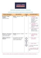 Fichier PDF exposants tarifs et communication