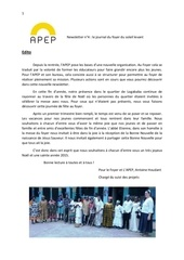 newsetter apep 4 french