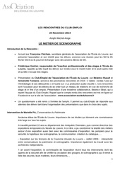 resume metier de scenographe 24 nov 2014