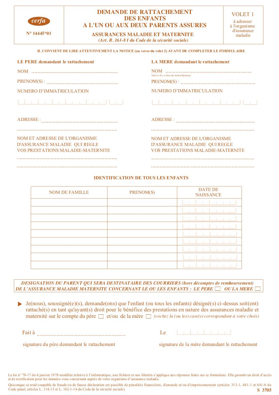 formulaire s3705
