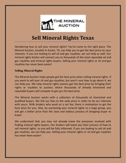 sell mineral rights texas