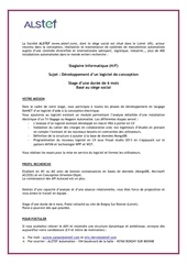 annonce stagiaire informaticien bee