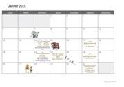 calendrier 2015 janvier
