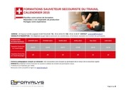 calendrier complet formations 1er semestre 2015