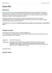 Fichier PDF fichier pour fb