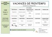 programme acm printemps 2014