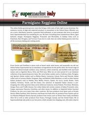 Fichier PDF parmigiano reggiano online