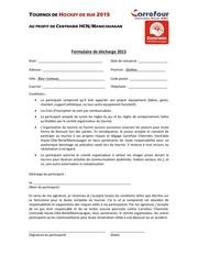Fichier PDF hockey 2015 formulaire de decharge