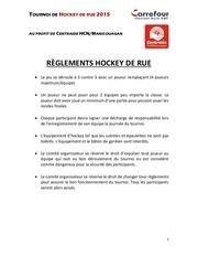 hockey 2015 r glements hockey de rue