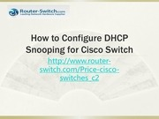 configure dhcp snooping for cisco switch