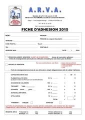 bulletin adhesion 2015