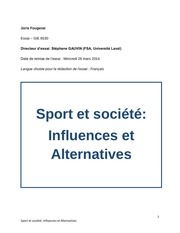 joris fougerat sport et societe