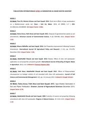 ali mekki liste des publications