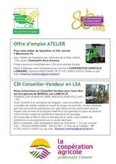 2015 offre d emploi groupe cal