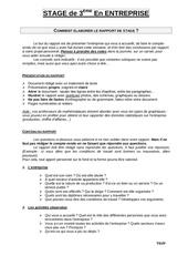 consignes rapport de stage 3eme 2014 2015