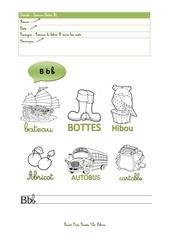 Fichier PDF lecture lettre b