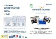 prospectus cyber base ateliers 2014