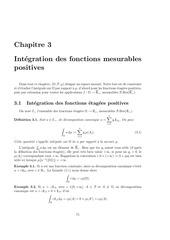 integration des fonctions mesurables positives