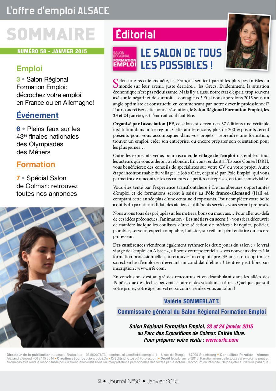 journal offre emploi alsace janvier 2015 00092
