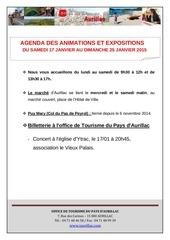 agenda du samedi 17 au 25 janvier 2015