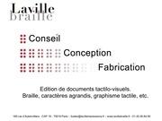plaquette laville braille