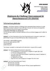 reglement du concours upa danse 2015