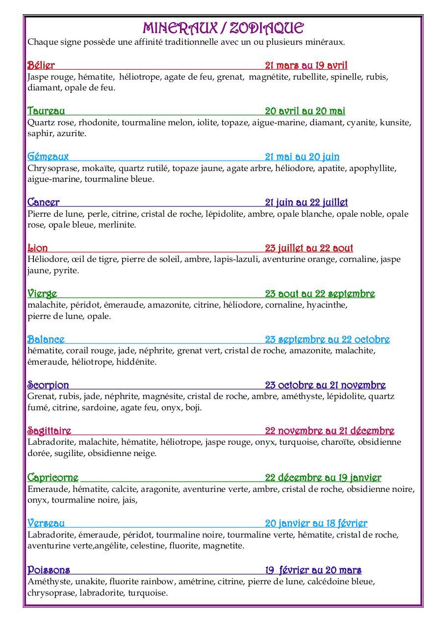 mineraux zodiaque - Fichier PDF