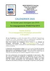 calendrier pour les parents