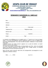 demande d adhesion amicale 2015