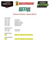 horaires racebook