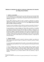 procedure adhesion laboratoires recherche cdh