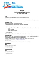 Fichier PDF stage lightroom 2015