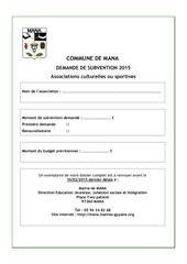 Fichier PDF dossier de demande de subvention associations