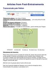Fichier PDF transversale et finition