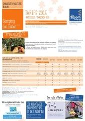 brochure 2015 tarifs