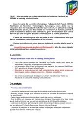 Fichier PDF mise en garde sur un lien malveillant