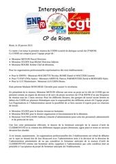 cr intersyndicale codis du 20 01 2015 1
