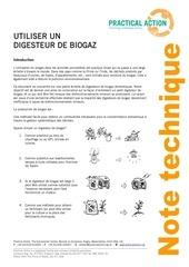 utiliser un digesteur de biogaz