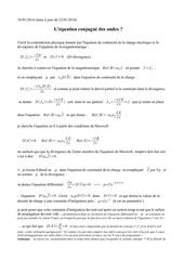 l equation conjugue maxwell