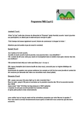 programme fmmb cup