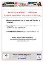 agenda du samedi 24 janvier au dimanche 1er fevrier 2015