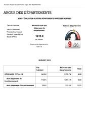 Fichier PDF argus des departements
