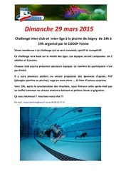 challenge 29 mars 1