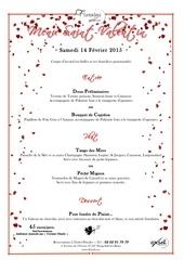 menu saint valentin floralys petales rouge et blanc