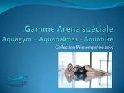 Fichier PDF gamme arena speciale aquagym aquapalmes