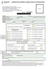 formulaire d inscription cours d espagnol