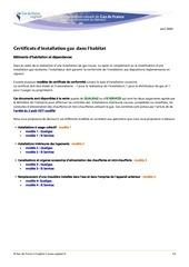 certificats de comformite inst gaz habitat