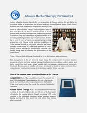 chinese herbal therapy portland or